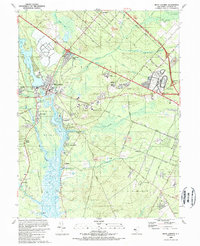 Download a high-resolution, GPS-compatible USGS topo map for Mays Landing, NJ (1989 edition)