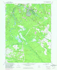 Download a high-resolution, GPS-compatible USGS topo map for Medford Lakes, NJ (1982 edition)