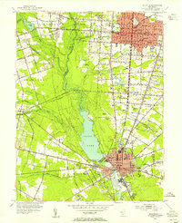 Download a high-resolution, GPS-compatible USGS topo map for Millville, NJ (1955 edition)