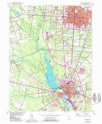 Download a high-resolution, GPS-compatible USGS topo map for Millville, NJ (1987 edition)