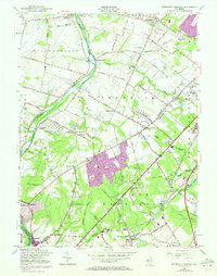 Download a high-resolution, GPS-compatible USGS topo map for Monmouth Junction, NJ (1972 edition)