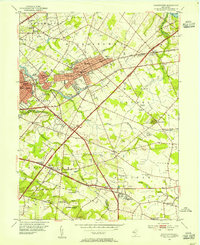 Download a high-resolution, GPS-compatible USGS topo map for Moorestown, NJ (1954 edition)