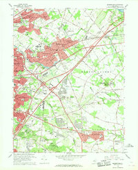 Download a high-resolution, GPS-compatible USGS topo map for Moorestown, NJ (1968 edition)