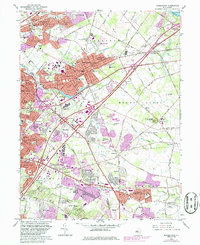 Download a high-resolution, GPS-compatible USGS topo map for Moorestown, NJ (1986 edition)