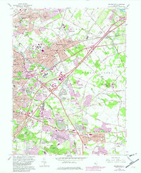 Download a high-resolution, GPS-compatible USGS topo map for Moorestown, NJ (1982 edition)