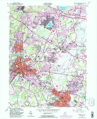 Download a high-resolution, GPS-compatible USGS topo map for Morristown, NJ (1982 edition)