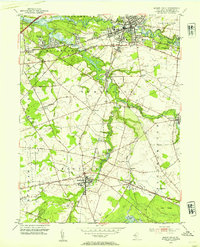 Download a high-resolution, GPS-compatible USGS topo map for Mount Holly, NJ (1954 edition)