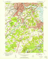 Download a high-resolution, GPS-compatible USGS topo map for New Brunswick, NJ (1956 edition)