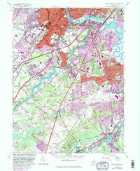 Download a high-resolution, GPS-compatible USGS topo map for New Brunswick, NJ (1982 edition)
