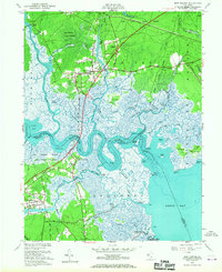 Download a high-resolution, GPS-compatible USGS topo map for New Gretna, NJ (1967 edition)