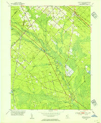 Download a high-resolution, GPS-compatible USGS topo map for Newtonville, NJ (1954 edition)