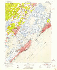 Download a high-resolution, GPS-compatible USGS topo map for Ocean City, NJ (1955 edition)