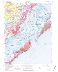 Download a high-resolution, GPS-compatible USGS topo map for Ocean City, NJ (1984 edition)