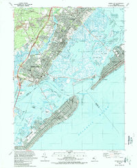 Download a high-resolution, GPS-compatible USGS topo map for Ocean City, NJ (1989 edition)