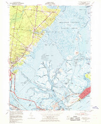 Download a high-resolution, GPS-compatible USGS topo map for Oceanville, NJ (1969 edition)