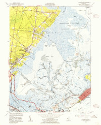 Download a high-resolution, GPS-compatible USGS topo map for Oceanville, NJ (1955 edition)