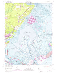 Download a high-resolution, GPS-compatible USGS topo map for Oceanville, NJ (1973 edition)