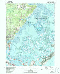 Download a high-resolution, GPS-compatible USGS topo map for Oceanville, NJ (1989 edition)