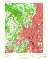 Download a high-resolution, GPS-compatible USGS topo map for Paterson, NJ (1963 edition)