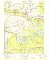 Download a high-resolution, GPS-compatible USGS topo map for Pemberton, NJ (1951 edition)