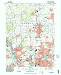 Download a high-resolution, GPS-compatible USGS topo map for Pennington, NJ (1998 edition)