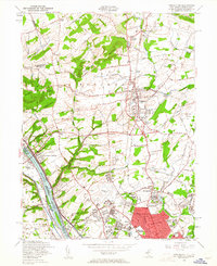 Download a high-resolution, GPS-compatible USGS topo map for Pennington, NJ (1961 edition)