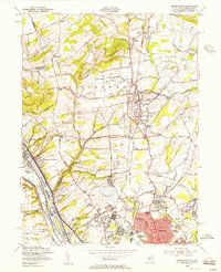 Download a high-resolution, GPS-compatible USGS topo map for Pennington, NJ (1956 edition)