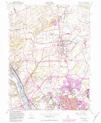 Download a high-resolution, GPS-compatible USGS topo map for Pennington, NJ (1984 edition)
