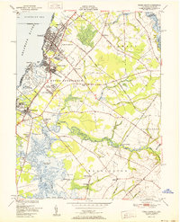 Download a high-resolution, GPS-compatible USGS topo map for Penns Grove, NJ (1951 edition)