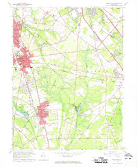 Download a high-resolution, GPS-compatible USGS topo map for Pitman East, NJ (1968 edition)