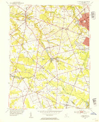 Download a high-resolution, GPS-compatible USGS topo map for Pitman West, NJ (1954 edition)
