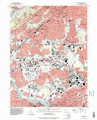 Download a high-resolution, GPS-compatible USGS topo map for Plainfield, NJ (1998 edition)