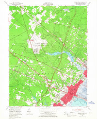 Download a high-resolution, GPS-compatible USGS topo map for Pleasantville, NJ (1967 edition)