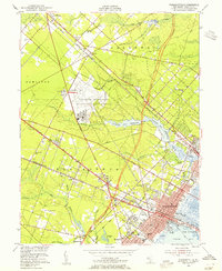 Download a high-resolution, GPS-compatible USGS topo map for Pleasantville, NJ (1955 edition)