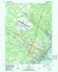 Download a high-resolution, GPS-compatible USGS topo map for Pleasantville, NJ (1989 edition)