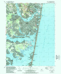 Download a high-resolution, GPS-compatible USGS topo map for Point Pleasant, NJ (1989 edition)