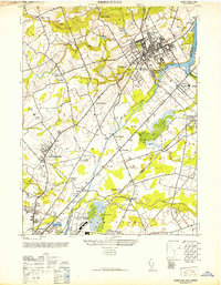 Download a high-resolution, GPS-compatible USGS topo map for Princeton, NJ (1952 edition)