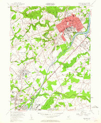 Download a high-resolution, GPS-compatible USGS topo map for Princeton, NJ (1962 edition)