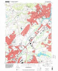 Download a high-resolution, GPS-compatible USGS topo map for Princeton, NJ (2000 edition)