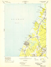 Download a high-resolution, GPS-compatible USGS topo map for Rio Grande, NJ (1944 edition)
