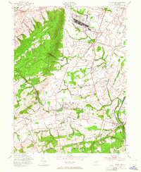 Download a high-resolution, GPS-compatible USGS topo map for Rocky Hill, NJ (1964 edition)