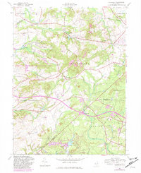 Download a high-resolution, GPS-compatible USGS topo map for Roosevelt, NJ (1982 edition)