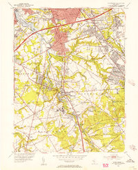 Download a high-resolution, GPS-compatible USGS topo map for Runnemede, NJ (1954 edition)