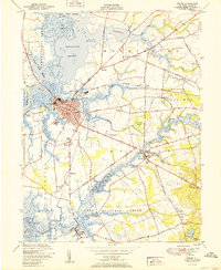 Download a high-resolution, GPS-compatible USGS topo map for Salem, NJ (1951 edition)