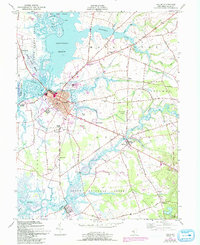 Download a high-resolution, GPS-compatible USGS topo map for Salem, NJ (1993 edition)