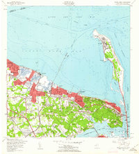 Download a high-resolution, GPS-compatible USGS topo map for Sandy Hook, NJ (1962 edition)