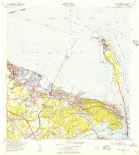 Download a high-resolution, GPS-compatible USGS topo map for Sandy Hook, NJ (1956 edition)