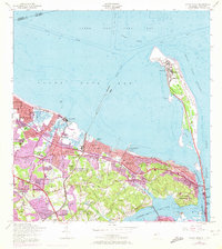 Download a high-resolution, GPS-compatible USGS topo map for Sandy Hook, NJ (1972 edition)
