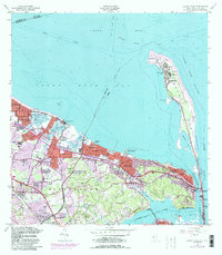 Download a high-resolution, GPS-compatible USGS topo map for Sandy Hook, NJ (1990 edition)