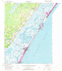 Download a high-resolution, GPS-compatible USGS topo map for Sea Isle City, NJ (1974 edition)
